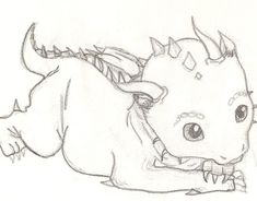 Images For > Easy Drawings Of Cute Dragons