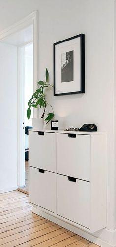 Deco: Best Ikea Interior Ideas Black And White 2017 Avec Meuble Entree Ikea Des Photos Meuble Entree Ikea Shoe Cabinet Entryway, Shoe Cabinet Design, Ikea Interior, Decoration Entree, Modern Entryway, Entryway Ideas, Hallway Ideas, Wall Ideas, Room Ideas