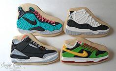 NIKE Sneakers Decorated Cookies