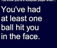 you know you're a volleyball player when