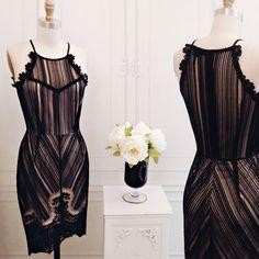 Zhane Dark www.1861.ca #boutique1861 #blacklace #vintageinspired #blackdress #pattern #lookbook #montreal #fashion