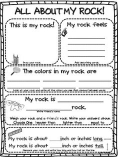 "$2 ""ALL ABOUT MY ROCK"" GRAPHIC ORGANIZER/RESEARCH PAPER - TeachersPayTeachers.com"