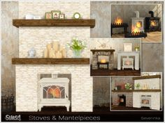 The Sims Resource: Stoves and Mantelpieces by Severinka • Sims 4 Downloads