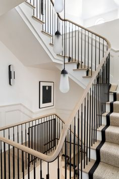 Austin Victorian by Chango & Co. Architectural Advisement & Interior Design by Chango & Co. Architecture by William Hablinski Construction by J Pinnelli Co. Photography by Sarah Elliott New England Farmhouse, Austin Homes, Affordable Housing, Staircase Design, Stair Railing, Railings, Victorian Homes, Stairways, Interior Inspiration