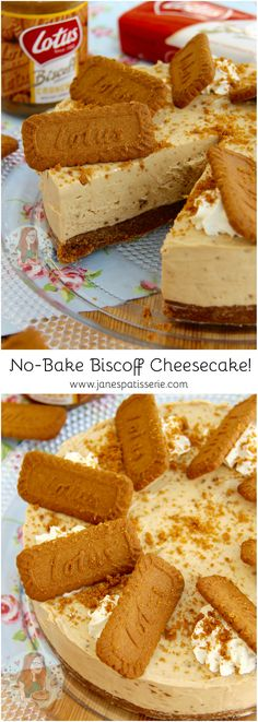 No-Bake Biscoff Cheesecake! ❤️ A delicious No-Bake Biscoff Cookie Butter Che… No-Bake Biscoff Cheesecake! ❤️ A delicious No-Bake Biscoff Cookie Butter Cheesecake, sprinkled with more biscuits and whipped cream – Spiced Cookie Heaven. Biscoff Cheesecake, Biscoff Cookie Butter, Biscoff Cookies, Cheesecake Recipes, Biscoff Cake, Lotus Cheesecake, Cheesecake Cookies, Peanut Butter, Biscoff Recipes