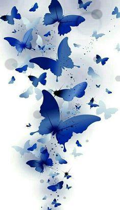 A gorgeous wash of blue butterflies flying upwards towards their destiny. Galaxy Wallpaper, Cellphone Wallpaper, Flower Wallpaper, Screen Wallpaper, Wallpaper Backgrounds, Iphone Wallpaper, Trendy Wallpaper, Butterfly Wallpaper Iphone, Plain Wallpaper