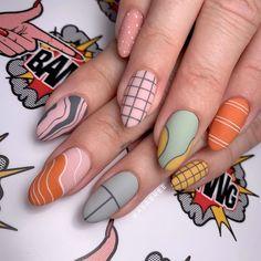 Some autumnal desert vibes for ❤️ Nail Design Stiletto, Nail Design Glitter, Stylish Nails, Trendy Nails, Gel Nails, Nail Polish, Nagellack Trends, Manicure E Pedicure, Funky Nails
