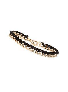 Black thread chain wristwear