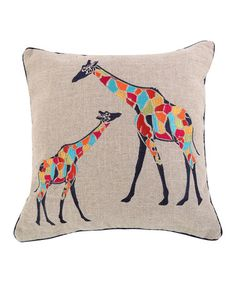 Another great find on #zulily! Marne Giraffe Sparkle Burlap Pillow #zulilyfinds