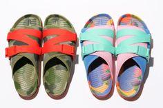 People Footwear & Poler Come Together for Summer Sandals Slide Sandals, Shoes Sandals, Shoes Sneakers, Flat Shoes, Flats, Heels, How To Make Shoes, Designer Shoes, Footwear