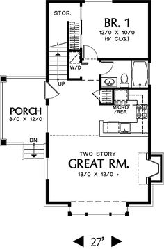 Coastal Home Plans - Corbell Cottage I