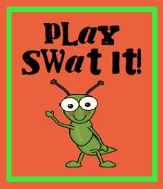 Play swat it with your reading group, plus FREE printable.