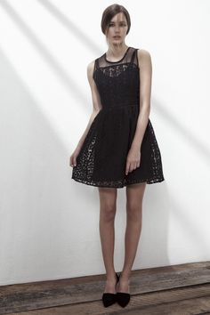SHUFFLE CREPE DRESS IN ANTHRACITE BLACK. www.fallwinterspringsummer.com Norwegian Fashion, Fall Winter Spring Summer, Crepe Dress, 1930s, Collection, Black, Dresses, Style, Products