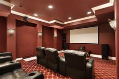 Top 70 Best Home Theater Seating Ideas - Movie Room Designs Home Theater Lighting, Theater Room Decor, Home Theater Room Design, Home Theater Setup, Best Home Theater, Home Theater Speakers, Home Theater Rooms, Home Theater Projectors, Home Theater Seating