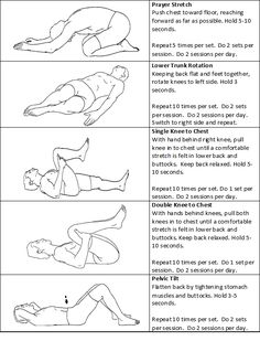 Physical Therapy Back Exercises Acute Low Back Pain Stretching Exercises For Back, Lower Back Pain Exercises, Good Back Workouts, Shoulder Exercises, Hip Pain, Sciatica Exercises, Sciatic Nerve, Arthritis Exercises, Back Workouts