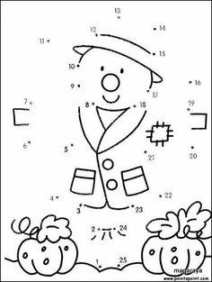 (2015-09) 25 prikker, fugleskræmsel Předškolní Aktivity, Matematika Pro Školky, Umělecké Vzdělání