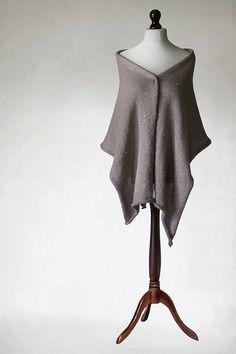 Beige scarf knit shawl knit scarf wrap shawl by KnitwearFactory