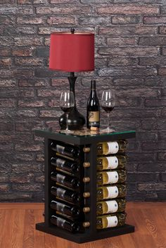 Great end table for any room! Weber Wine Stax- Great end table for any room! Weber Wine Stax Great end table for any room! Bottle Rack, Diy Bottle, Wine Bottle Holders, Wine Bottle Crafts, Bar Sala, Wine Rack Wall, Wine Racks, Wine Display, Coffee Wine