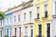 Notting Hill, London — via @TheFoxandShe