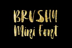Brushy Mini font A-Z and a-z