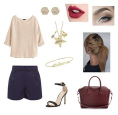 """""""Sem título #27"""" by mariie1d ❤ liked on Polyvore featuring Cutie, H&M, Manolo Blahnik, Alisa Michelle, Witchery, Givenchy, Charlotte Tilbury, women's clothing, women and female"""
