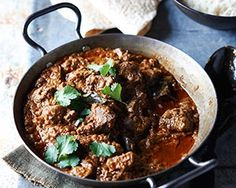 John Torode's goat curry slow cooked with onion, ginger, garlic, chilli, coconut milk and lots of wonderful Indian spices