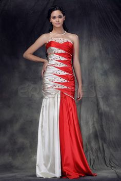 Luxurious Mermaid Sleeveless Strapless Floor-length Anderae's Evening/Party Dress.