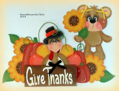 """""""Give Thanks"""" premade paper piecing for scrapbooking..."""
