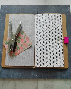 Travelers journal,  regular size. Made from washable paper.