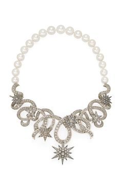 Genesis H.Stern collection. Hydra necklace in Noble Gold with diamonds and pearls.