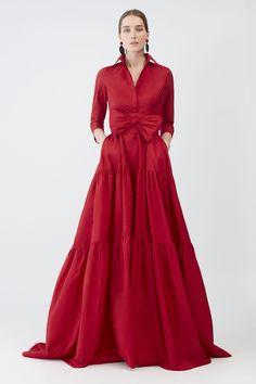 RED Tiered taffeta shirt dress - Women New Collection Maxi Shirt Dress, Dress Up, Evening Dresses, Formal Dresses, Elegant Dresses, Fall Wedding Dresses, Mode Style, Dress To Impress, Fashion Dresses