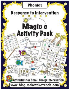 15 hands on activities for teaching the magic e rule.