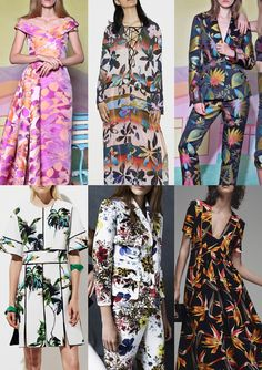 Pre Spring/Summer 2016 Catwalk Print & Pattern Trend Highlights - Christian Siriano / Clover Canyon / Christian Siriano / Proenza Schouler / Erdem / Fendi