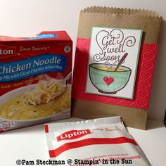 Stampin' in the Sun: Get Well Soup card and gift (literally)!