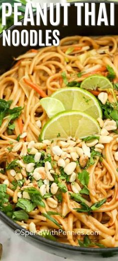 Creamy Peanut Thai Noodles {Ready in 45 Mins} - Spend With Pennies This easy one pot creamy peanut thai noodle recipe is the perfect weeknight meal! We love making this easy dish when we need a last minute meal. Vegetarian Recipes, Cooking Recipes, Healthy Recipes, Weeknight Recipes, Thai Noodles, Thai Pasta, Asian Recipes, Ethnic Recipes, Vietnamese Recipes