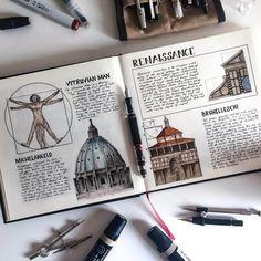 Art Sketchbook Drawing Mixed Media – Art World 20 Architecture Journal, Architecture Drawing Art, Gcse Art Sketchbook, Travel Sketchbook, A Level Art Sketchbook Layout, Art Diary, Sketchbook Inspiration, Sketchbook Ideas, Renaissance Art