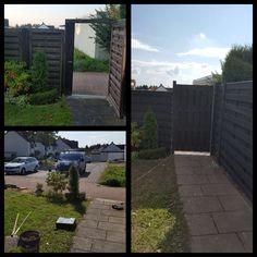 Nicht nur der Zaun wird ausgetauscht, aber auch das Gartentor. Alles oder nichts:-) #garten #tor #gartentor #zaun #gartengestaltung #grünerdaumen #grigorov #köln Sidewalk, Fence, Walkway, Walkways