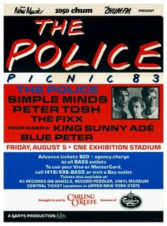 The Police - first leg of their Synchronicity Tour through US