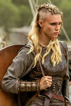 Viking Braids: Porunn's New Braided Hairstyle. I love the fierce soul of this girl!.