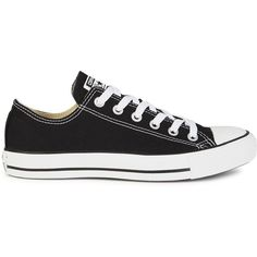 Womens Low-Top Trainers Converse All Star Black Canvas Trainers ($69) ❤ liked on Polyvore featuring shoes, sneakers, plimsoll sneaker, converse sneakers, lace up sneakers, black sneakers and black lace up sneakers