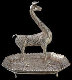 Ayacucho Peruvian Colonial Filigree Silver Llama