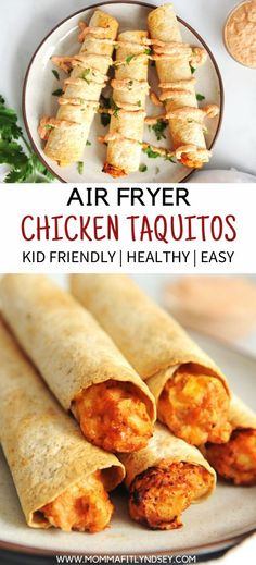 Homemade taquitos are easy to make in the air fryer! This chicken recipe is a kid-friendly healthy Homemade taquitos are easy to make in the air fryer! This chicken recipe is a kid-friendly healthy recipe that is great for picky eaters. Air Fryer Dinner Recipes, Air Fryer Recipes Easy, Easy Kids Dinner Recipes, Kids Cooking Recipes Easy, Homemade Taquitos, Taquitos Recipe, Air Frier Recipes, Air Fryer Healthy, Kid Friendly Meals