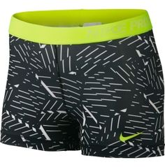 Nike® Women's 3'' Pro Bash Compression Shorts. These moisture-wicking shorts feature Dri-FIT® fabric that pulls sweat away from the skin for cool, dry performance. A tight-fitting design adheres to your body for figure-hugging support, while an elastic waistband offers a secure fit that stays in place as you move. There's no way around it: the 3'' Pro Bash shorts are the perfect gym buddy.