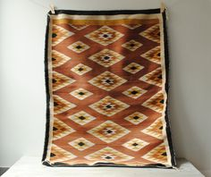 Vintage Cherokee Indian Rug 4' x 3' by LittleDogVintage on Etsy