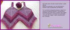 Summer top comprising 4 granny squares, joined corner to corner, add rows of granny stitch to desired length, add straps and you're done. Crochet Clothes, Diy Fashion, Crochet Bikini, Stitch, Swimwear, Pattern, How To Wear, Women, Crochet Tops