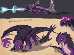Httyd Fan Dragon Briskwind Boltren by on DeviantArt Httyd Dragons, Cool Dragons, Fantasy Creatures, Mythical Creatures, Toothless Drawing, Night Fury Dragon, Dragon Birthday Parties, Dragon Dreaming, Cute Disney Drawings
