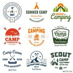 Vettoriale: Vintage camp graphics