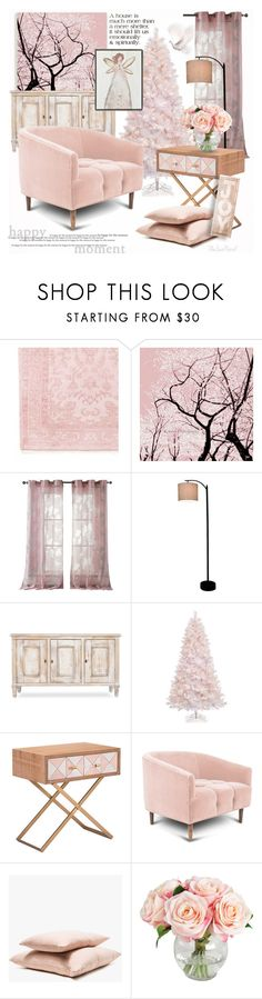 """My Happy Christmas Place"" by theseapearl ❤ liked on Polyvore featuring interior, interiors, interior design, home, home decor, interior decorating, Kensie, Threshold, Holiday Lane and Hawkins"