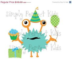 Sale Monster Birthday Celebration Personalized Baby/Toddler Onesie/Tshirt Many Sizes/Colors Free Shipping | simplyperfec