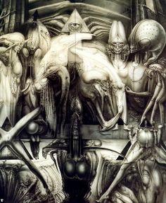 [Oldies] Surreal Art by Alien Creator H. Hr Giger Art, Alien Film, Alien Art, Arte Horror, Horror Art, Giger Alien, Arte Cyberpunk, Arte Obscura, Illustration